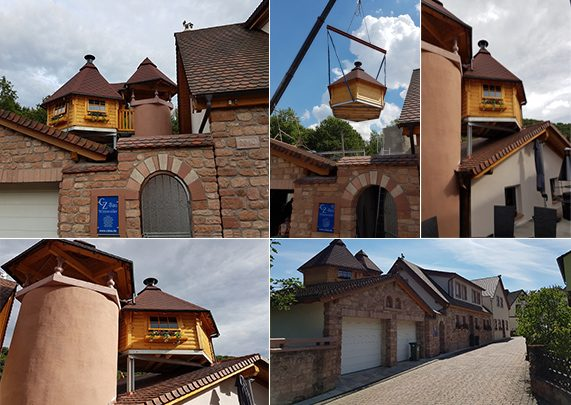 Collage für die Dach-Grillhütte