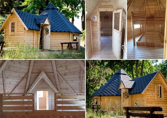 Collage für Schlafkotas auf dem Campingplatz
